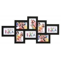 DEKNUDT Holz Galerierahmen schwarz für 8 Bilder 10x15 cm