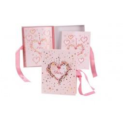 Goldbuch Baby Schatzkästchen 85315 inklusive Karte - Serie Babyalbum Pink Heart