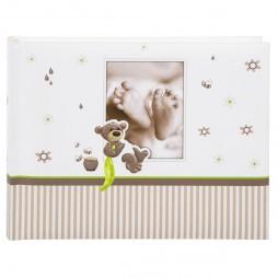 Goldbuch Babyalbum Taschenalbum Honigbär 19238 , 16x22 cm, 36 weiße Seiten