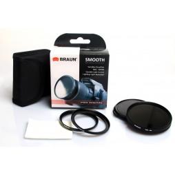Braun Variabler Graufilter ND2-400 VLC Ø 67mm + Ø62mm inkl Deckel, Etui,Tuch** SlimLine inkl. Deckel + Etui