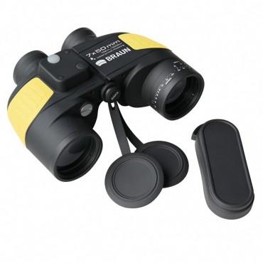 9938923d56ecd6 BRAUN Marine Fernglas 7x50 wasserdicht mit Kompass und Tasche   Schwimmgurt