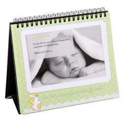 Goldbuch Baby Tischaufsteller für 12 Fotos in 10x15 cm 46803