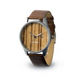 LAiMER Holzuhr Noa - Unisex Armbanduhr aus Edelstahl & Zebranoholz , Südtirol