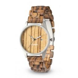 LAiMER Holzuhr Ulli - Unisex Armbanduhr 100% Zebranoholz , Südtirol