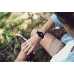LAiMER Holzuhr Sascha - Unisex Armbanduhr 100% Ebenholz , Südtirol
