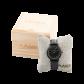 LAiMER Holzuhr Louisa - Damen Armbanduhr aus Edelstahl, Ebenholz + Marmor Südtirol