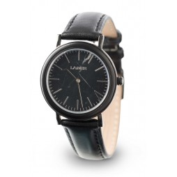 LAiMER Holzuhr Louisa - Damen Armbanduhr aus Edelstahl, Ebenholz & Marmor Südtirol