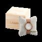 LAiMER Holzuhr Laila - Damen Armbanduhr aus Edelstahl, Zebranoholz & Marmor Südtirol