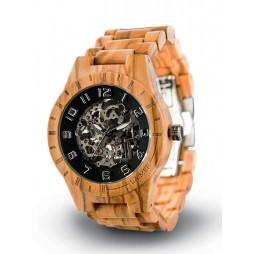 LAiMER Automatic Holzuhr Rick - Unisex Armbanduhr aus Olivenholz , Südtirol