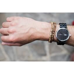 LAiMER Holzuhr Raùl - Herren Armbanduhr aus Sandelholz , Südtirol