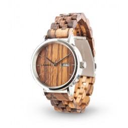 LAiMER Holzuhr Roberto - Herren Armbanduhr aus Zebrano , Südtirol