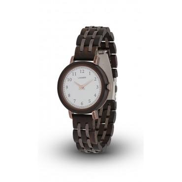 LAiMER Holzuhr Emma - Damen Armbanduhr 100% Sandelholz , Südtirol