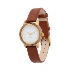LAiMER Holzuhr Felicia - Damen Armbanduhr 100% Zebrano , Südtirol