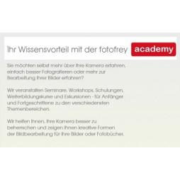 Grundlagen Workshop für alle Kameramarken, 16. September 2018 mit Trainer Jürgen Wandtke