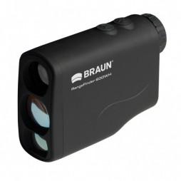 BRAUN RangeFinder 600WH Laser-Entferungsmesser Messbereich 4-600m 6-fach Vergrößerung