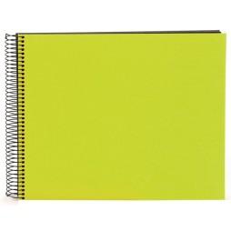 Goldbuch Spiralalbum Bella Vista grün 35x30cm schwarze Seiten 25962