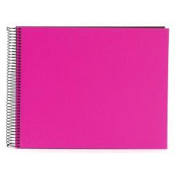 Goldbuch Spiralalbum Bella Vista pink 35x30cm schwarze Seiten 25964