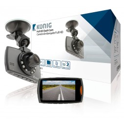 "König FullHD 2,7"" Dashcam 120° Autokamera 1920x1080 m. G-sensor + Nachtsicht LE"