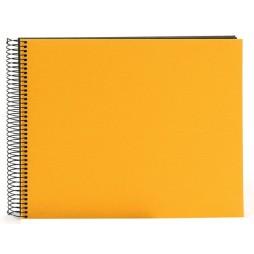Goldbuch Spiralalbum Bella gelb 35x30cm schwarze Seiten 25991