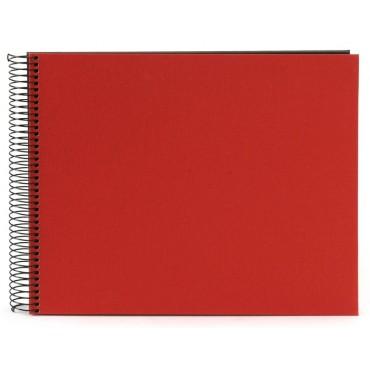 Goldbuch Spiralalbum Bella Vista rot 35x30cm schwarze Seiten 25993