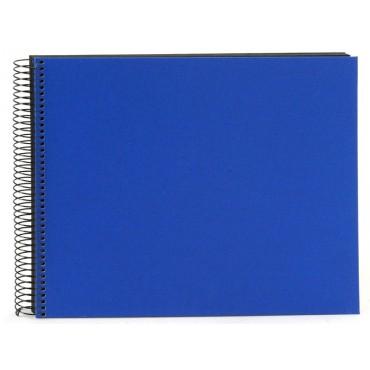 Goldbuch Spiralalbum Bella Vista blau 35x30cm schwarze Seiten 25996