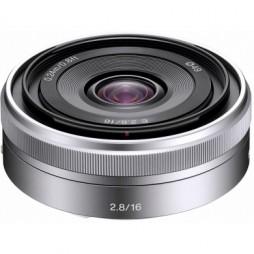 Sony SEL 16 mm f2,8 Silber APS-C-Objektiv SEL16F28