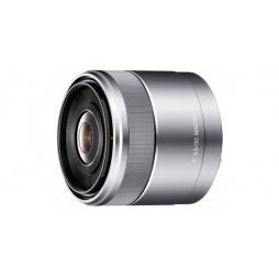 Sony SEL 30 mm f3,5 Silber Makro APS-C-Objektiv SEL30M35