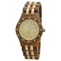 Mia - Damen Armbanduhr aus Ahorn- / Walnussholz