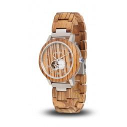 LAiMER Automatic Holzuhr Rafael - Herren Armbanduhr Zebranoholz , Südtirol