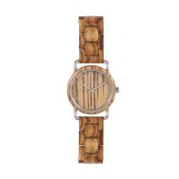 LAiMER Holzuhr Greta - Damen Armbanduhr 100% Zebranoholz , Südtirol