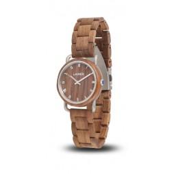 LAiMER Holzuhr Gabi - Damen Armbanduhr 100% Walnussholz , Südtirol