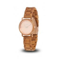 LAiMER Holzuhr Gina - Damen Armbanduhr 100% Teakholz , Südtirol