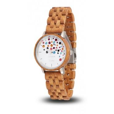 LAiMER Holzuhr Capri - Damen Armbanduhr 100% Mangoholz + Swarovski , Südtirol