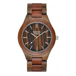 GreenTime Holzuhr Vincent - Herren Armbanduhr aus Sandelholz