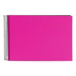 Goldbuch Spiralalbum Bella Vista pink 23x17cm, 40 schwarze Seiten 20964