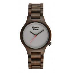 GreenTime Holzuhr Neli - Unisex Armbanduhr aus Sandelholz