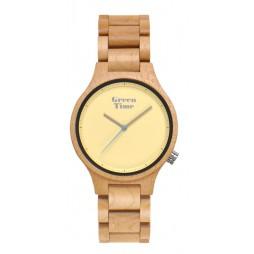 GreenTime Holzuhr Sandra - Unisex Armbanduhr aus Ahornholz