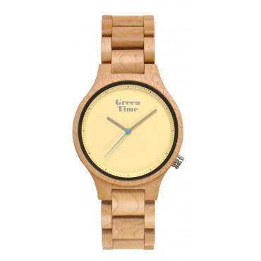 GreenTime Holzuhr Mira - Unisex Armbanduhr aus Ahornholz