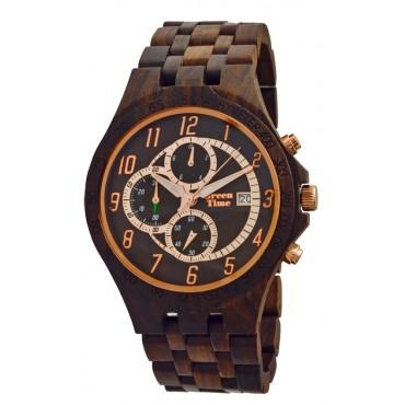 GreenTime Holzuhr Holzuhr Mats - Herren Armbanduhr aus Sandelholz