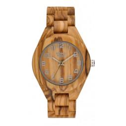 GreenTime Holzuhr Luzern - Damen Armbanduhr Olivenholz