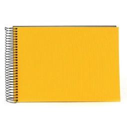 Goldbuch Spiralalbum Bella Vista gelb 23x17cm, 40 schwarze Seiten 20991