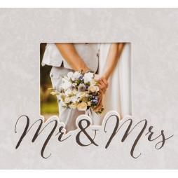 Hochzeitsalbum Mr. & Mrs. 30x31 cm, 60 weiße Seiten 08388