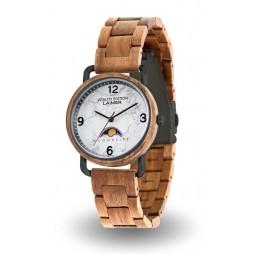 LAiMER Holzuhr Gerlinde - Damen Armbanduhr aus Teakholz , Südtirol