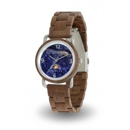 LAiMER Holzuhr GERTRUD - Damen Armbanduhr 100% WALNUSS & OBSIDAN , Südtirol