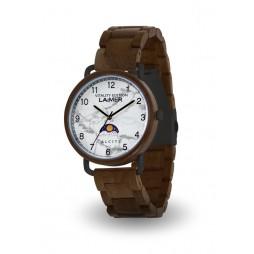 LAiMER Holzuhr GOTTFRIED - Herren Armbanduhr aus Sandelholz & Calcit