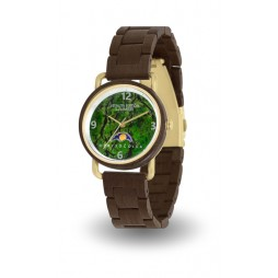 Holzuhr JOHANNA - Damen Armbanduhr aus Sandelholz & Chrysocoll