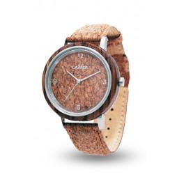 Holzuhr Jörg - Herren Armbanduhr aus Holz + Kork , Südtirol