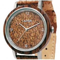 Holzuhr Holzuhr JUTTA - DAMEN Armbanduhr aus Holz + Kork , Südtirol