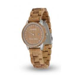LAiMER Holzuhr Wine Edition - Damen Armbanduhr 100% Wine Wood , Südtirol