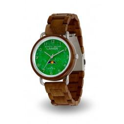 LAiMER Holzuhr GÖTZ - Herren Armbanduhr aus Walnussholz & Jade